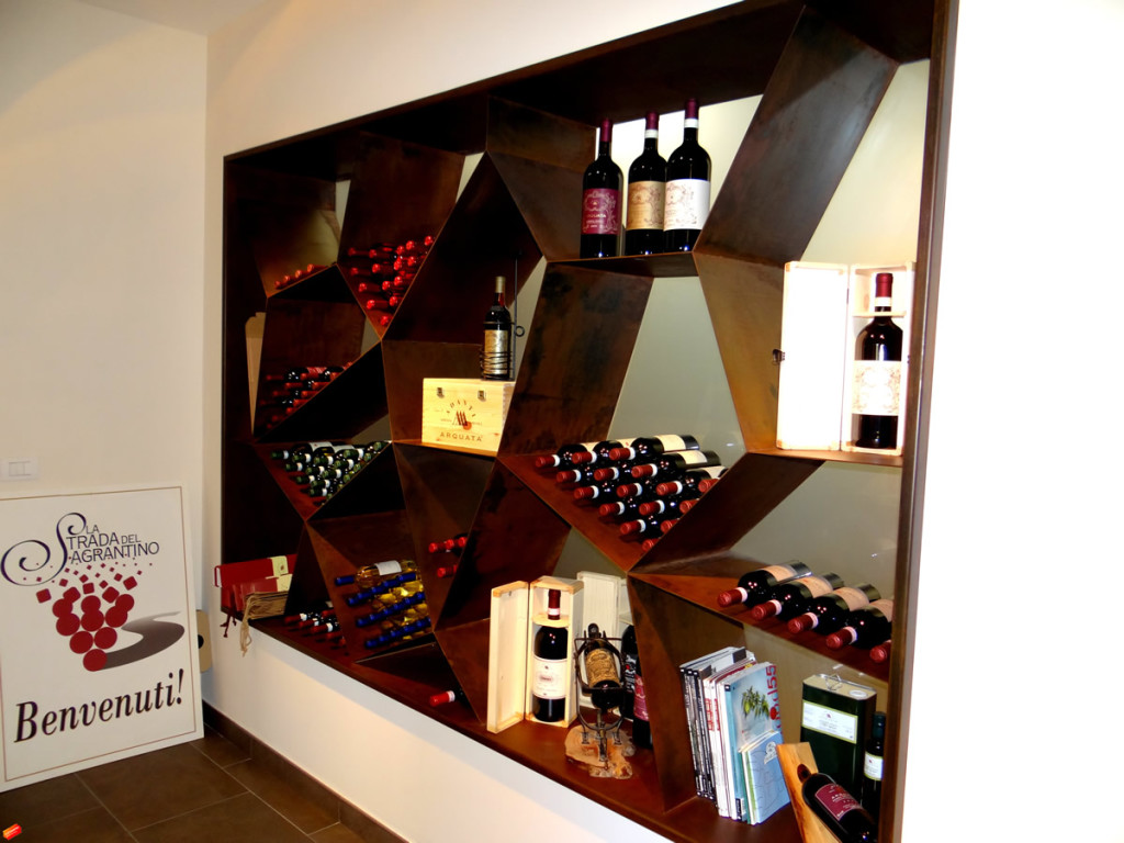 Display case di vini